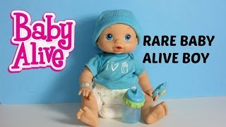 Baby Alive Wets n Wiggles BOY Doll Sam UNBOXING, FEEDING & CHANGING video!