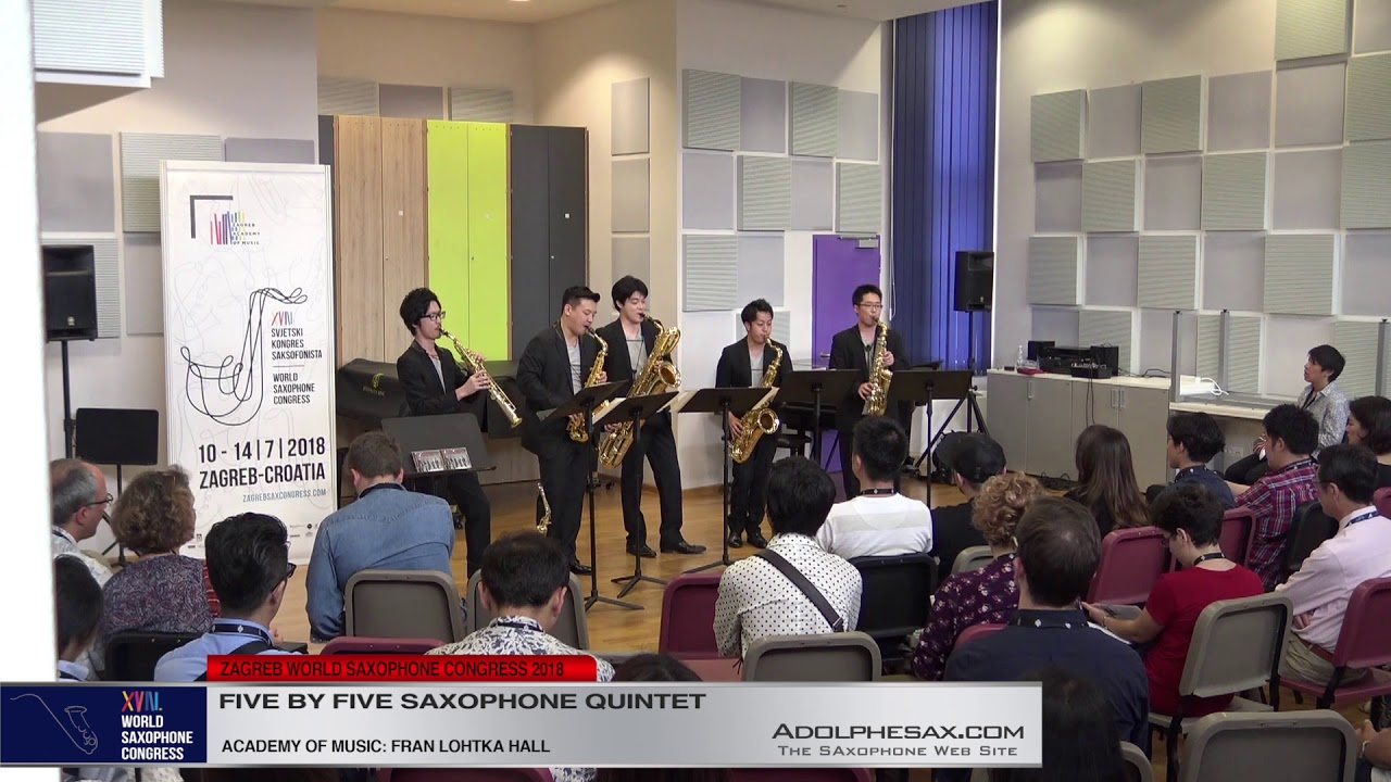 3 Pag 129   Five by Five Saxophone Quintet   XVIII World Sax Congress 2018 #adolphesax