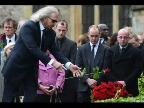 Robin Gibb (Bee Gees) Funeral A Final Farewell (1/2) - I Started A Joke [ CC ]