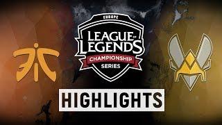FNC vs. VIT - EU LCS Week 7 Day 2 Match Highlights (Spring 2018)