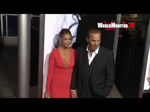 Kevin Costner and Christine Baumgartner arrive at '3 Days to Kill' Los Angeles premiere