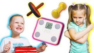 Кира хочет быть стройной Глеб помогает Кире похудеть видео для детей