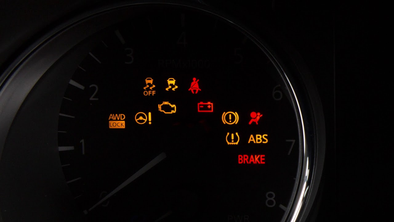 Nissan Murano 2017 Red >> 2018 Nissan Rogue - Warning and Indicator Lights - YouTube