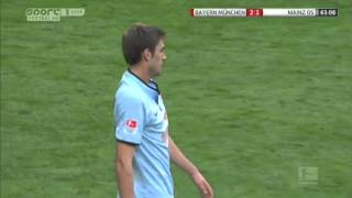 Bayern Munich vs FSV Mainz 19/10/2013 2nd (Full Game)