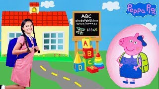 Peppa Pig - Back to School w/ Play Doh! Peppa Pig English Episodes - Peppa Pig Toys New 2017