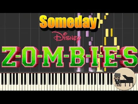Easy Someday Zombies Piano Tutorial Synthesia Hd Cover