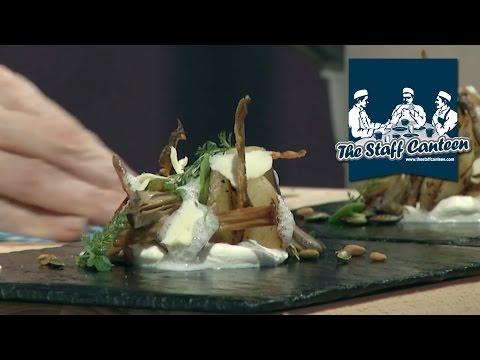 Michelin Star Chef Chris Harrod Creates A Jerusalem Artichoke With Goats Curd Recipe