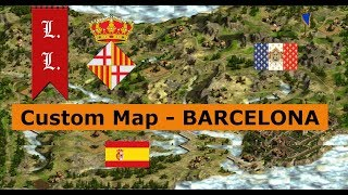 Cossacks 2 Battle for Europe - Custom Map- Barcelona: Spain vs France (#20)