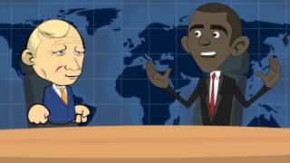 Весёлый анекдот про Путина и Обаму.365 Анекдотов.