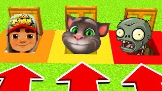 Do Not OPEN The WRONG TRAPDOOR! (Subway Surfer,Talking Tom, Plants Vs Zombies)(PS4/XboxOne/PE/MCPE)