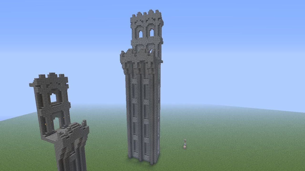 minecraft large castle wall tutorial - youtube