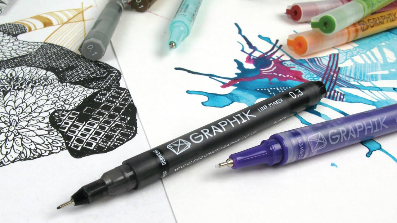 Drawing Lines Brand : Derwent graphik line painters youtube