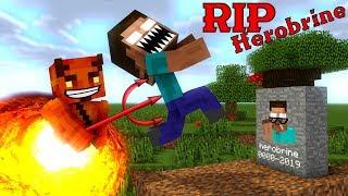 Monster School: RIP Herobrine - Minecraft Animation