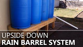 Upside-down Rain Barrels