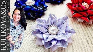 Красивый цветок канзаши 🌺 Yuliana M