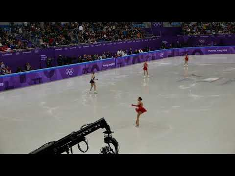 Alina Zagitova FS warm up 2018 Pyeongchang Olympics Figure skating Team event Ladies