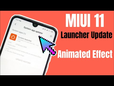 Redmi Note 7 Pro: MIUI 11 System Launcher Update | New Animated Effect