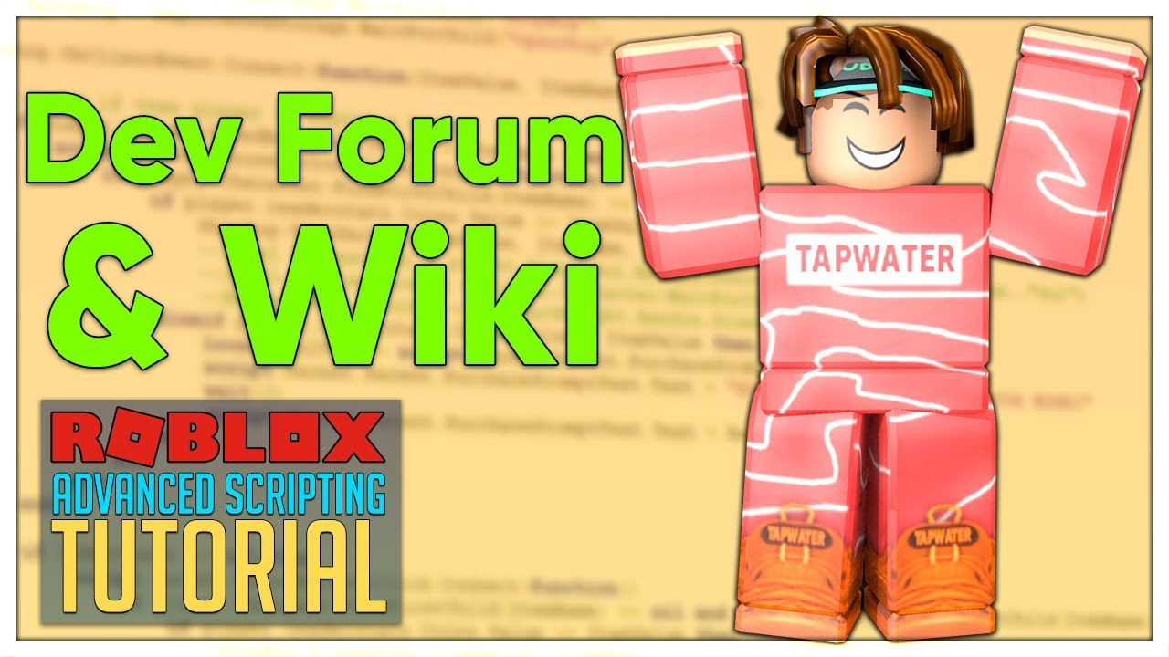 Hey Roblox Robloxdev Here To Let You Guys Know That Advanced Roblox Scripting Tutorial 5 5 Roblox Dev Forum Wiki Beginner To Pro 2019 Youtube