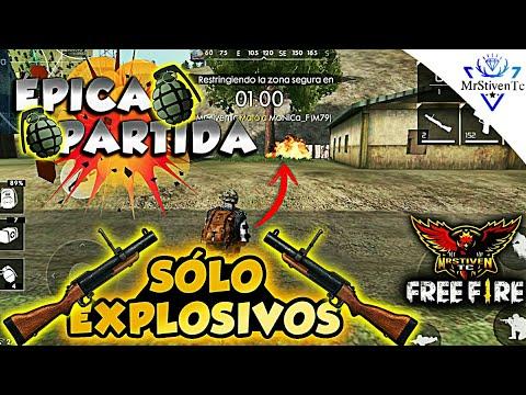 PARTIDA MUY ÉPICA USANDO/SÓLO EXPLOSIVOS/ ●FREE FIRE●