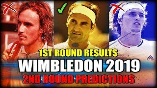 Wimbledon 2019 - First Round Results and Second Round Predictions