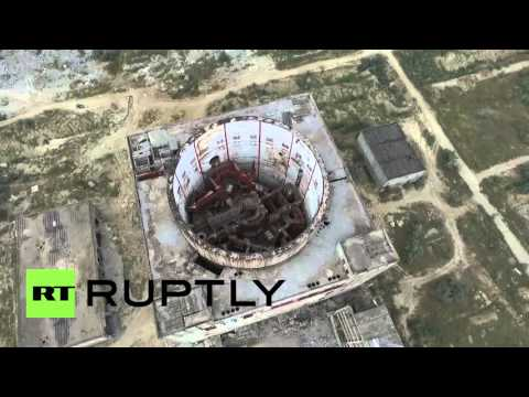 Russia: Chernobyl-era nuclear plant crumbles under drone's eye view