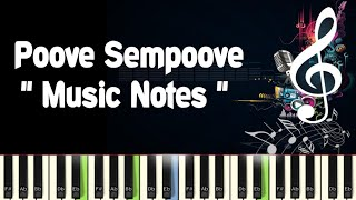 Poove Sempoove /Piano Notes /Midi File /Karaoke