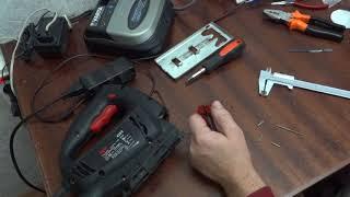 Ремонт держателя пилки электролобзика Repair of jigsaw holder