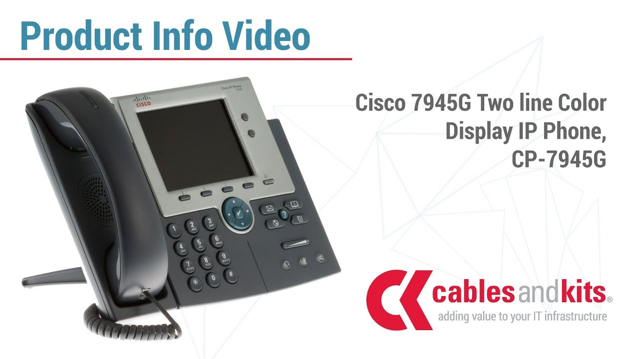 product info cisco 7945g two line color display ip phone cp 7945g [ 1280 x 720 Pixel ]