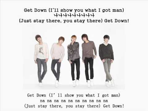 [Eng + Chi + Hangul + Romanziation] SHINee - Get down