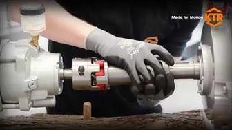 Montage und Demontage der ROTEX® ZS-DKM-H Wellenkupplung mit Split-Naben (Halbschalenkupplung) | KTR