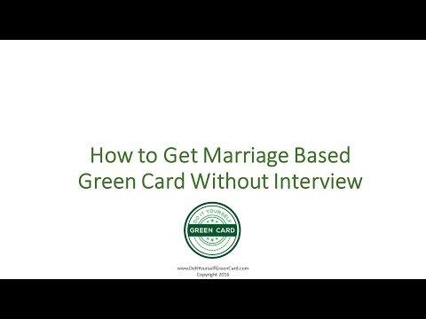 Marriage Based Green Card Without Interview - Green Card