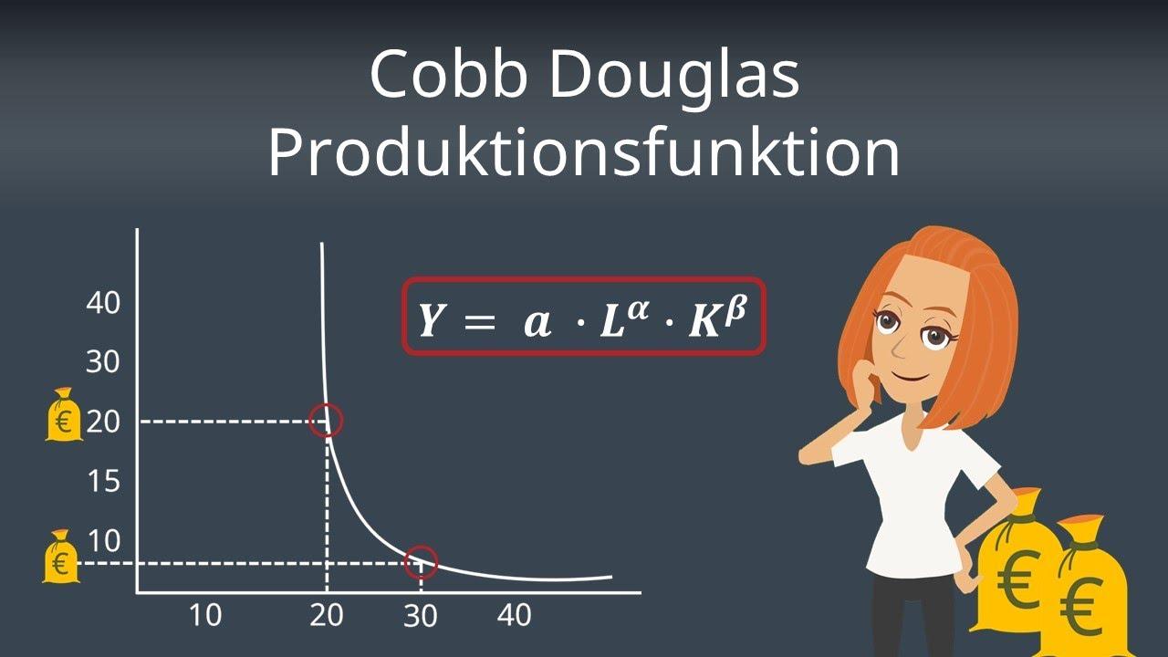 Cobb Douglas Produktionsfunktion Berechnung Und Ableitung Einfach Erklart Youtube