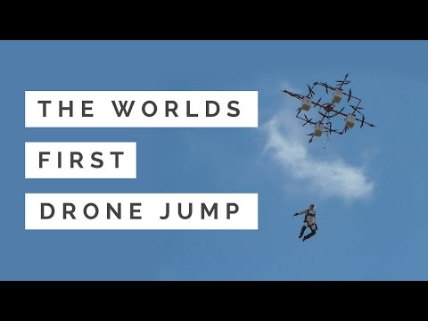 Jumping from drones is your newest extreme sport