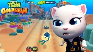 Talking Tom Gold Run - Agent Angela in Undersea World