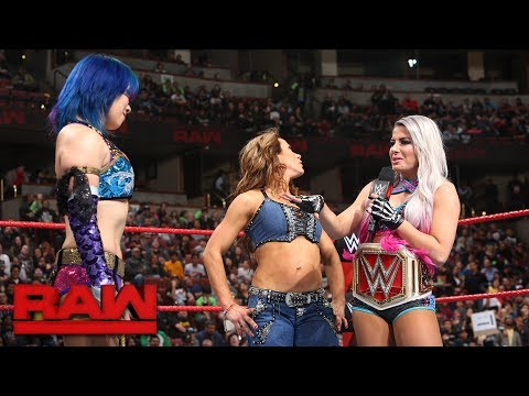 Alexa Bliss gloats about her win in the Women