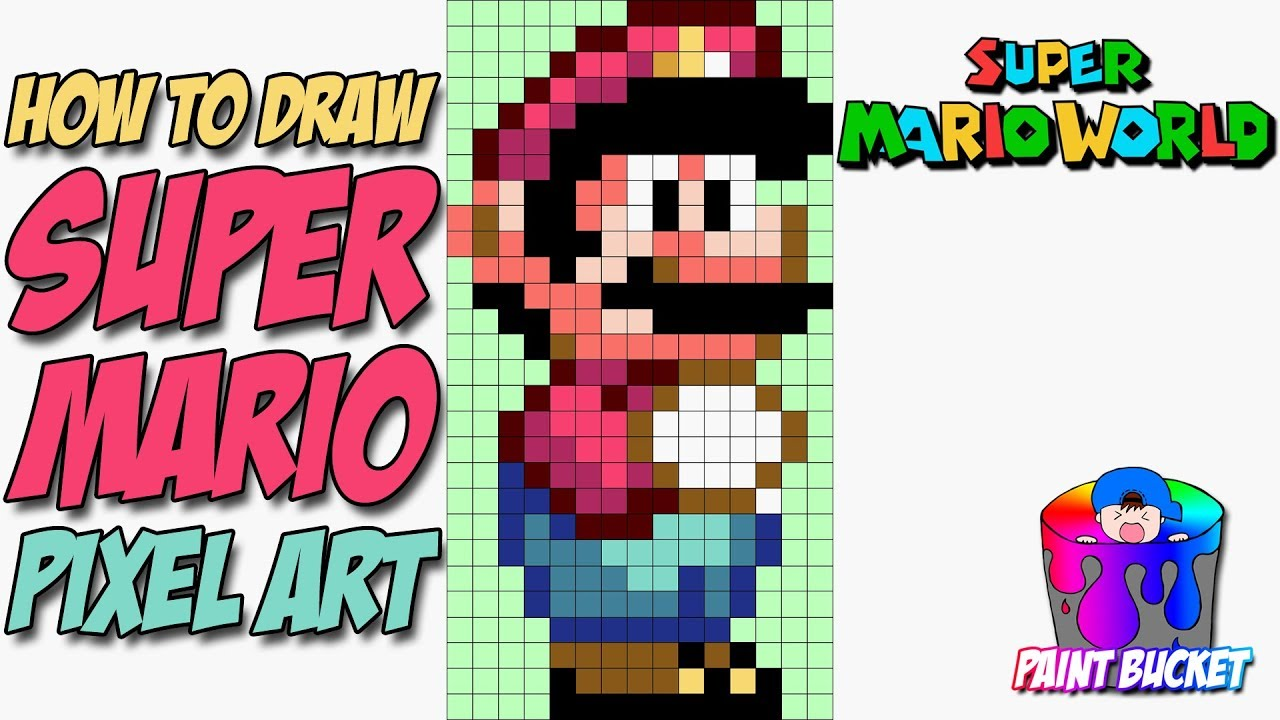 How To Draw Super Mario From Super Mario World 16 Bit Mario