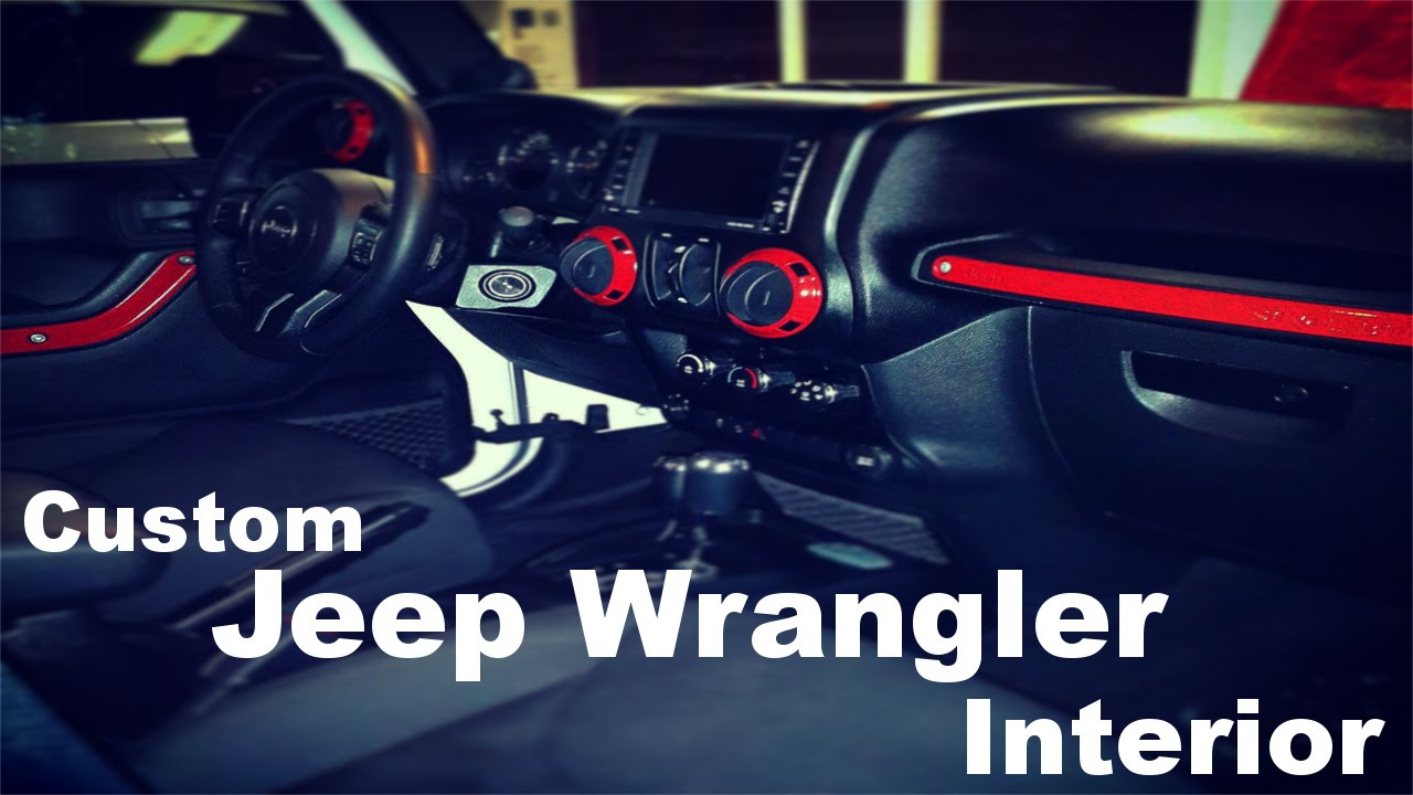 diy custom jeep wrangler interior part 1 youtube 2007 Jeep Wrangler Unlimited Interior