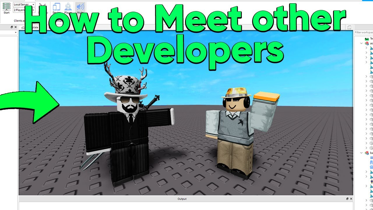How To Meet Other Roblox Developers Youtube