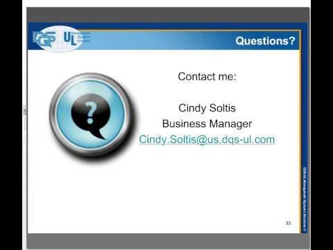 ISO 9001:2015 Revision Training Webinar