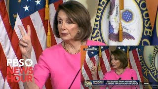 WATCH: Trump tweeted a misleading video of Nancy Pelosi. Here's the real thing