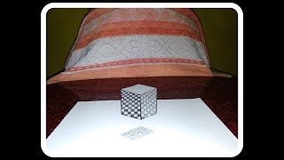 || #3D #Trick || Floating Cube Design In 3D