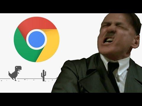 Hitler Plays The Chrome Error T-Rex Game (Downfall Parody)