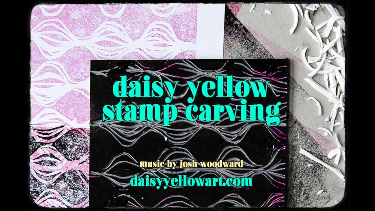Creating hand carved eraser stamps linoleum stamps for art