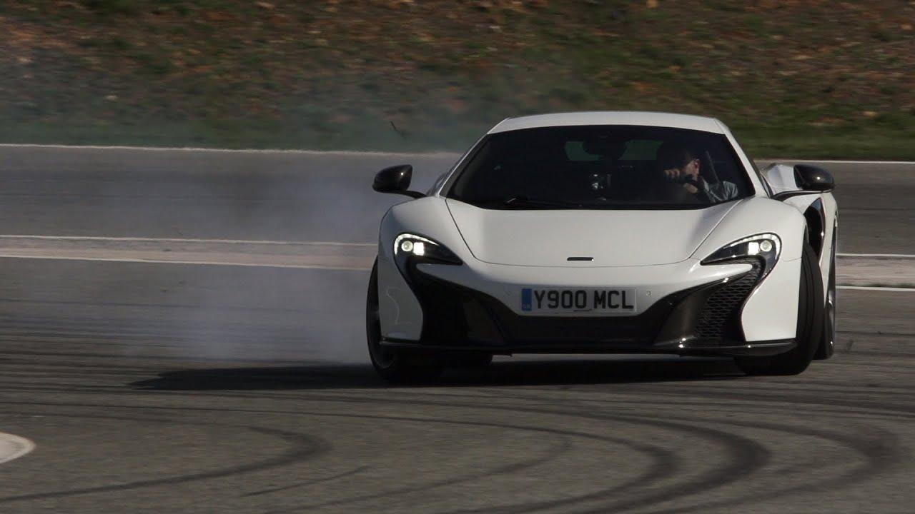 Brilliant new McLaren 650S tested at the limit on track