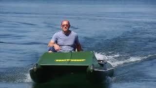 Лодка для рыбалки с мотором 2,5 л.с. катамаранного типа Fisher 380