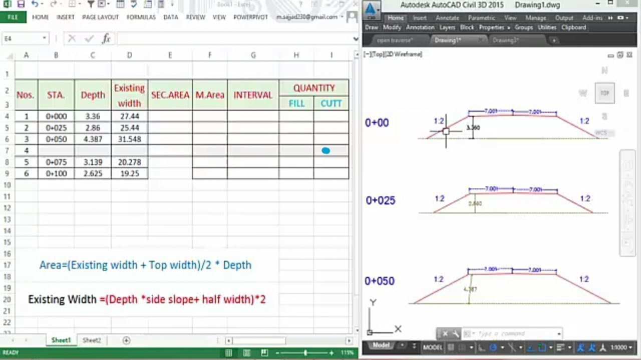 how to calculate cutt  u0026 fill of earthworks projects  in