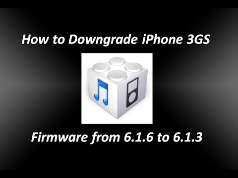 How to Downgrade iPhone 3GS iOS Firmware from 6.1.6 to 6.1.3