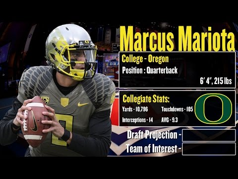 2015 NFL Draft Profile: Marcus Mariota - Strengths and Weaknesses + Projection!