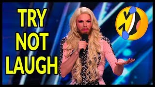 """Top 5 """"TRY NOT TO LAUGH"""" CHALLENGE! BEST EVER Comedians of ALL THE TIME on AGT, BGT and WORLD!"""