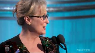 Meryl Streep Gives Snobby Golden Globes Speech, Admits She Lost Her Mind, Bashes Trump and Cries!